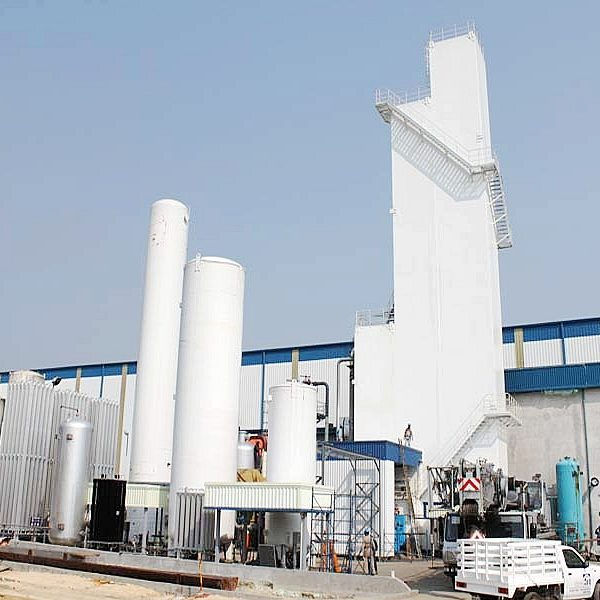 Gas plant with Argon
