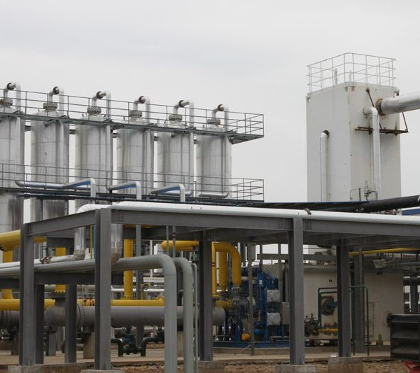 Natural-gas purifying & liquefying plant