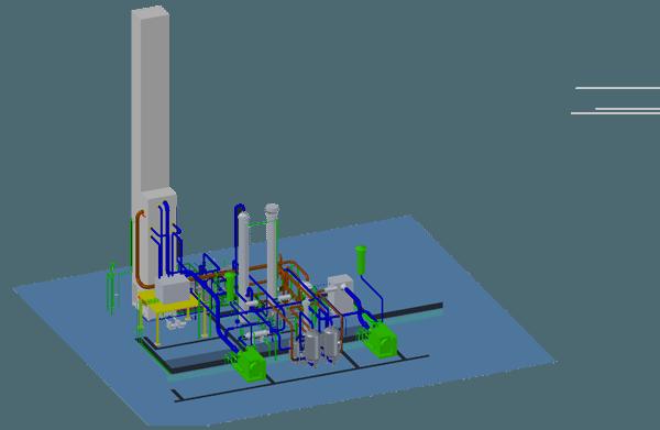 air separation plant Three-dimensional map