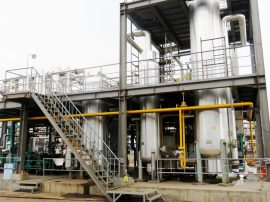 Chemical industry off-gas recovery plant